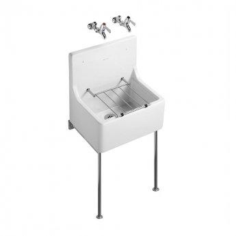 Armitage Shanks Alder Fine Fireclay Cleaners Sink 510mm L x 380mm W - White