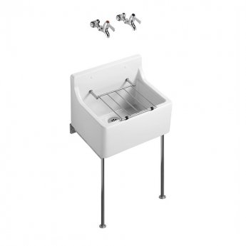 Armitage Shanks Birch Fine Fireclay Cleaners Sink 460mm L x 390mm W - White