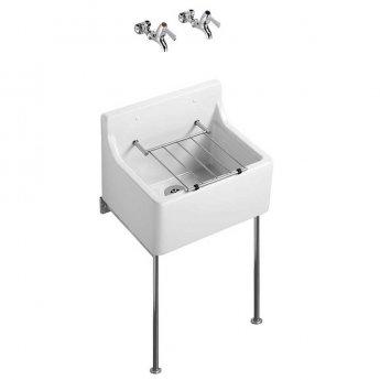 Armitage Shanks Birch Cleaner's Sink 1.0 Bowl 455mm L x 390mm W - White