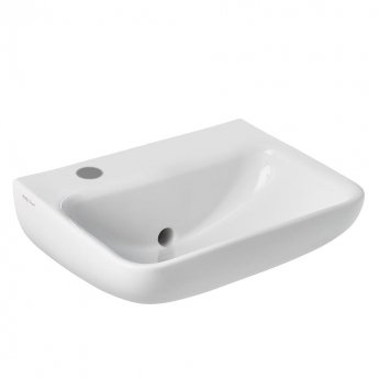 Armitage Shanks Contour 21 Plus Basin with Back Outlet 500mm Wide - 1 LH Tap Hole