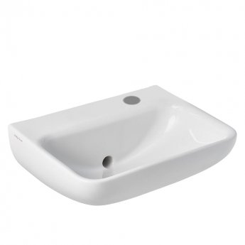 Armitage Shanks Contour 21 Plus Basin with Back Outlet 500mm Wide - 1 RH Tap Hole