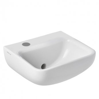 Armitage Shanks Contour 21 Plus Basin with Back Outlet 400mm Wide - 1 LH Tap Hole