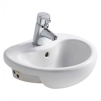 Armitage Shanks Contour 21 Semi-Countertop Basin 400mm Wide - 1 Tap Hole