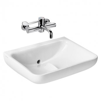 Armitage Shanks Contour 21 Plus Basin with Back Outlet 600mm Wide - 0 Tap Hole