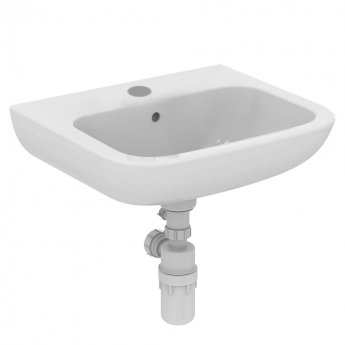 Armitage Shanks Contour 21 Basin with Overflow No Chain Hole 500mm Wide - 1 Tap Hole