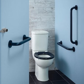 Armitage Shanks Contour 21 Ambulant Doc M Pack with Close Coupled Toilet - Blue