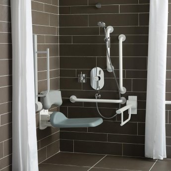 Armitage Shanks Contour 21 Shower Room Doc M Pack with Grab Rail - White
