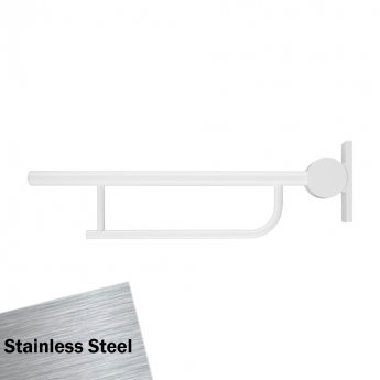 Armitage Shanks Contour 21 Hinged Arm Wall Support Grab Rail 800mm - Stainless Steel