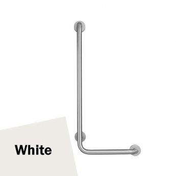 Armitage Shanks Contour 21 Angled Shower Grab Rail 900mm Length - LH White