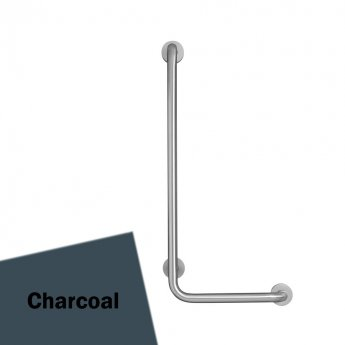 Armitage Shanks Contour 21 Angled Shower Grab Rail 900mm Length - LH Charcoal