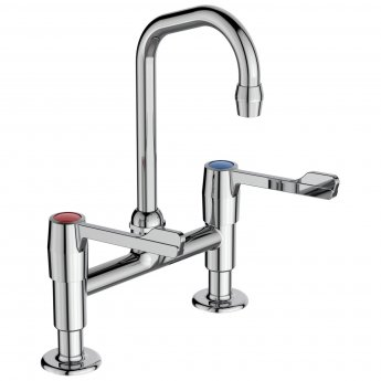 Armitage Shanks Markwik Dual Control Anti Splash Basin Sink Mixer Tap - Chrome