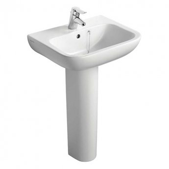 Armitage Shanks Portman 21 Basin and Full Pedestal 500mm Wide - 1 Tap Hole