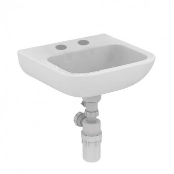Armitage Shanks Portman 21 Wall Hung Cloakroom Basin No Overflow 400mm Wide - 2 Tap Hole