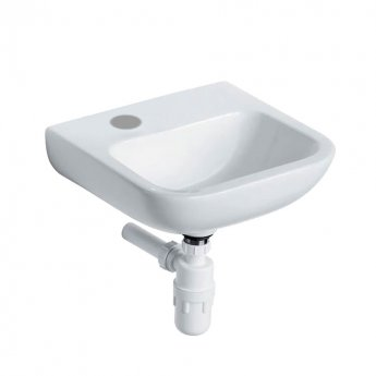 Armitage Shanks Portman 21 Wall Hung Cloakroom Basin No Overflow 400mm Wide - 1 LH Tap Hole