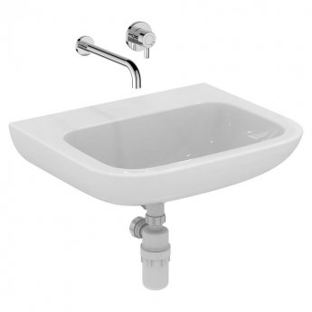 Armitage Shanks Portman 21 Wall Hung Basin No Overflow 600mm Wide - 0 Tap Hole