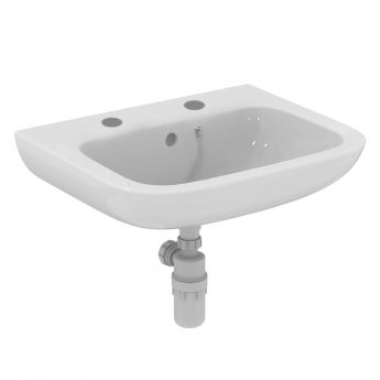 Armitage Shanks Portman 21 Wall Hung Basin with Overflow 600mm Wide - 2 Tap Hole