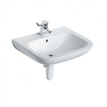 Armitage Shanks Portman 21 Wall Hung Basin No Overflow 600mm Wide - 1 Tap Hole