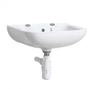 Armitage Shanks Portman 21 Wall Hung Cloakroom Basin with Overflow 400mm Wide - 2 Tap Hole