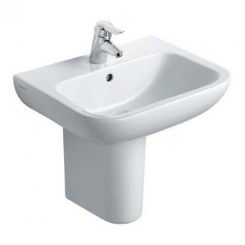 Armitage Shanks Portman 21 Basin with Semi Pedestal 500mm Wide - 1 Tap hole