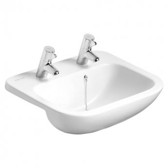 Armitage Shanks Profile 21 Semi Countertop Basin No Overflow 500mm Wide - 2 Tap Hole