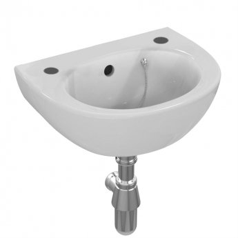 Armitage Shanks Sandringham 21 Wall Hung Handrinse Basin with Overflow 350mm Wide - 2 Tap Hole