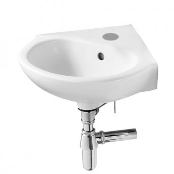 Armitage Shanks Sandringham 21 Wall Hung Corner Basin 480mm Wide 1 Tap Hole
