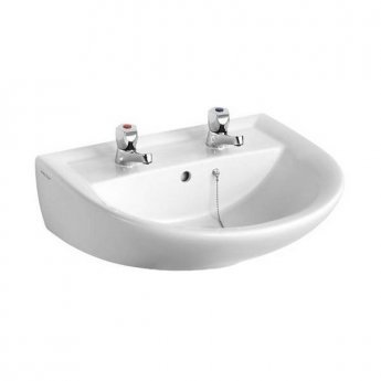 Armitage Shanks Sandringham 21 Wall Hung Basin 550mm Wide 2 Tap Hole