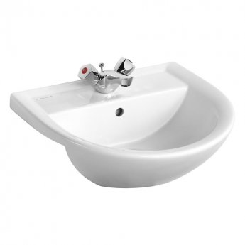 Armitage Shanks Sandringham 21 Semi-Recessed Basin 500mm Wide - 1 Tap Hole