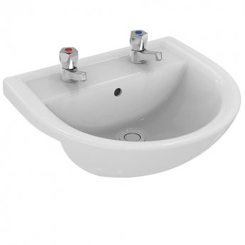Armitage Shanks Sandringham 21 Semi-Countertop Basin 500mm Wide - 2 Tap Hole