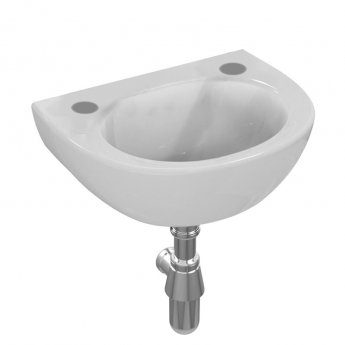 Armitage Shanks Sandringham 21 Wall Hung Handrinse Basin No Overflow 350mm Wide - 2 Tap Hole