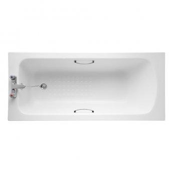 Armitage Shanks Sandringham 21 1700mm x 700mm Bath with Handgrips & Tread - 2 Tap Hole