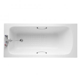 Armitage Shanks Sandringham 21 1500mm x 700mm Bath with Handgrips & Tread - 2 Tap Hole