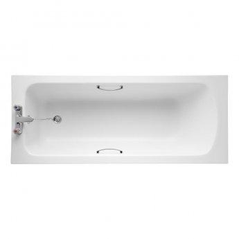 Armitage Shanks Sandringham 21 1600mm x 700mm Bath with Handgrips & Tread - 2 Tap Hole