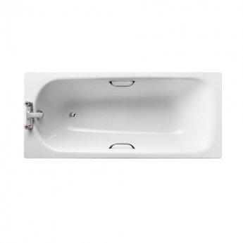 Armitage Shanks Sandringham 21 Rectangular Steel Bath 1600mm x 700mm - 2 Tap Hole