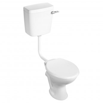 Armitage Shanks Sandringham 21 Low Level Toilet WC Side Inlet Cistern - Hardwearing Seat