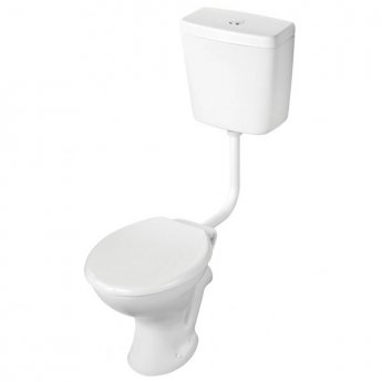 Armitage Shanks Sandringham 21 Low Level Toilet WC Push Button Cistern - Hardwearing Seat