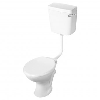 Armitage Shanks Sandringham 21 Low Level Toilet WC Side Inlet Cistern - Standard Seat