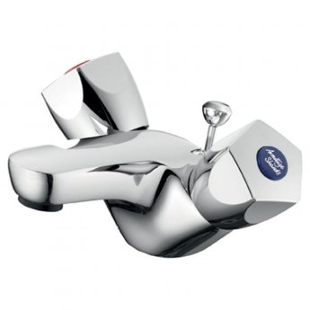 Armitage Shanks Sandringham 21 Dual Control Basin Mixer with Pop Up Waste - Chrome
