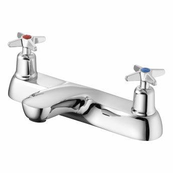 Armitage Shanks Sandringham 21 Two Hole Bath Filler with Crossheads - Chrome