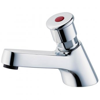 Armitage Shanks Sandringham 21 Self Closing Basin Pillar Tap - Chrome