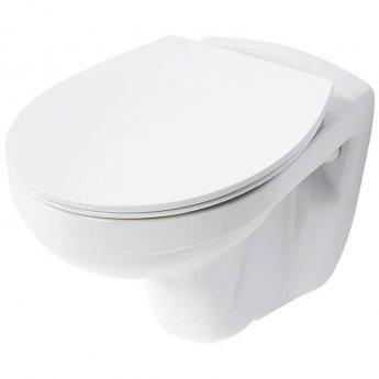 Armitage Shanks Sandringham 21 Wall Hung WC Toilet - Standard Seat