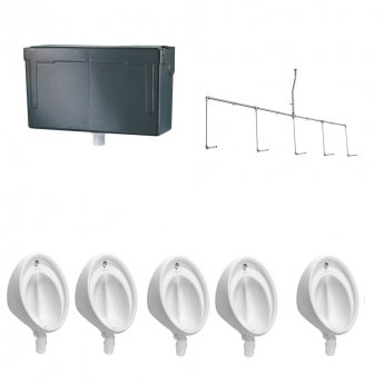 Armitage Shanks Sanura Hygeniq 5 Urinal Pack with Concealed Auto Cistern