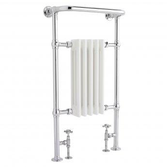 Bayswater Clifford Radiator Towel Rail 965mm High x 540mm Wide White/Chrome