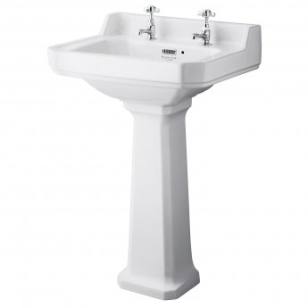 Bayswater Fitzroy Basin with Full Pedestal 560mm Wide 2 Tap Hole