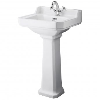 Bayswater Fitzroy Basin with Large Full Pedestal 500mm Wide 1 Tap Hole