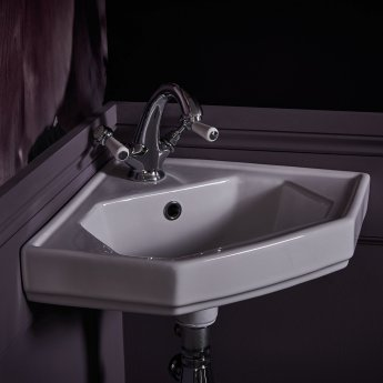 Bayswater Lever Dome Mono Basin Mixer Tap with Waste - Black/Chrome