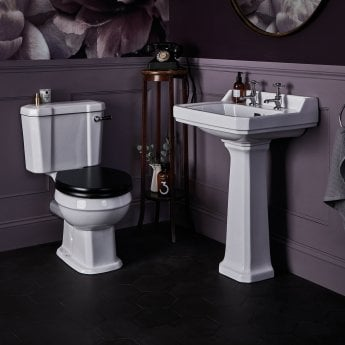Bayswater Fitzroy Basin with Full Pedestal 500mm Wide 2 Tap Hole