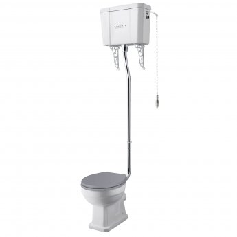 Bayswater Fitzroy Comfort Height High Level Toilet with Pull Chain Cistern (excluding Seat)