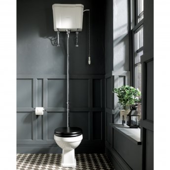 Bayswater Fitzroy High Level Toilet with Pull Chain Cistern (excluding Seat)