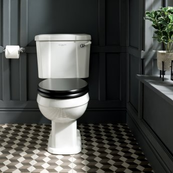 Bayswater Fitzroy Comfort Height Close Coupled Toilet with Lever Cistern (excluding Seat)